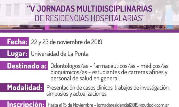 V Jornadas Multidisciplinarias de Residencias Hospitalarias