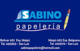 PAPELERIA SABINO